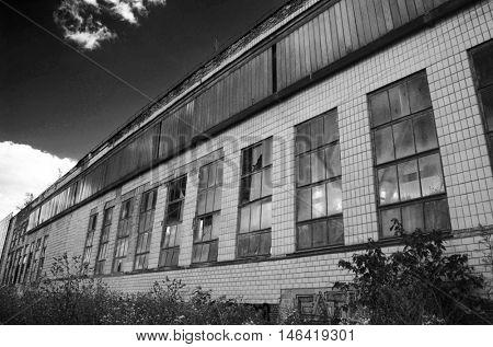 Abandoned industrial complex.July 4, 2016 Kiev, Ukraine
