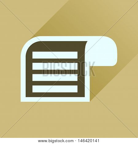 Flat icon with long  shadow Parchment quill