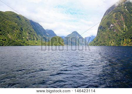 View Of Milford Sound Fiord. Fiordland National Park, New Zealand.