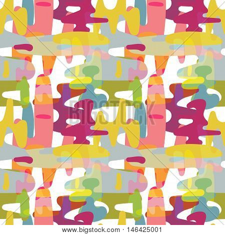 Seamless pattern with amorphous color spots .