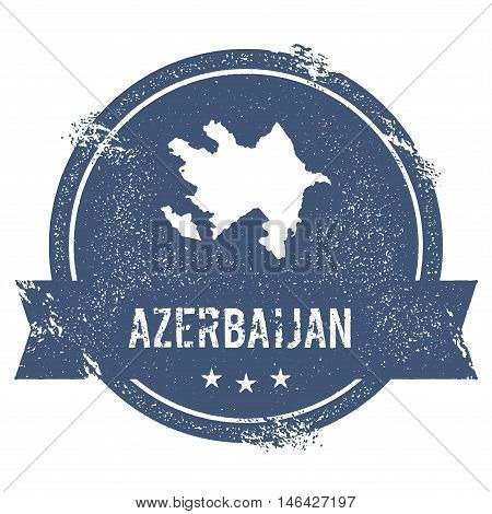 Azerbaijan Mark. Travel Rubber Stamp With The Name And Map Of Azerbaijan, Vector Illustration. Can B