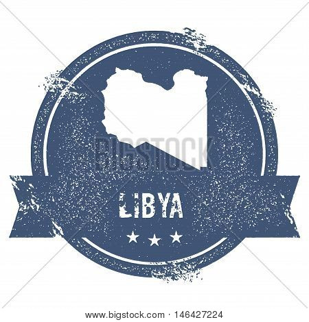 Libya Mark. Travel Rubber Stamp With The Name And Map Of Libya, Vector Illustration. Can Be Used As