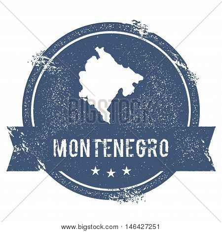 Montenegro Mark. Travel Rubber Stamp With The Name And Map Of Montenegro, Vector Illustration. Can B