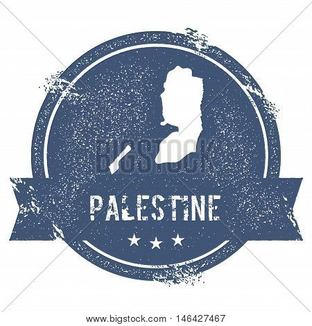 Palestine Mark. Travel Rubber Stamp With The Name And Map Of Palestine, Vector Illustration. Can Be