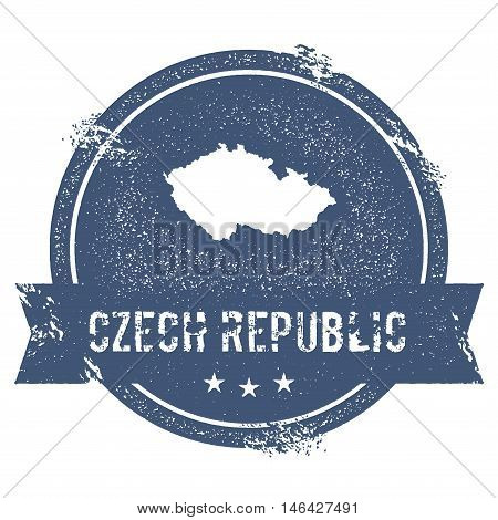 Czech Republic Mark. Travel Rubber Stamp With The Name And Map Of Czech Republic, Vector Illustratio