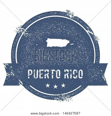 Puerto Rico Mark. Travel Rubber Stamp With The Name And Map Of Puerto Rico, Vector Illustration. Can