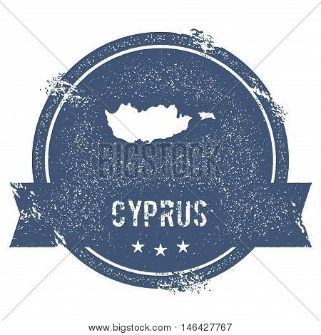 Cyprus Mark. Travel Rubber Stamp With The Name And Map Of Cyprus, Vector Illustration. Can Be Used A