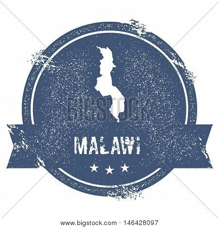 Malawi Mark. Travel Rubber Stamp With The Name And Map Of Malawi, Vector Illustration. Can Be Used A