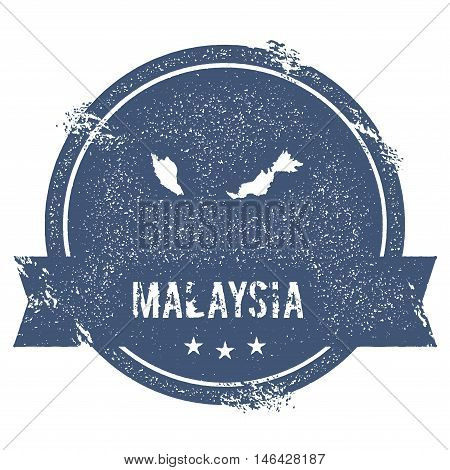 Malaysia Mark. Travel Rubber Stamp With The Name And Map Of Malaysia, Vector Illustration. Can Be Us