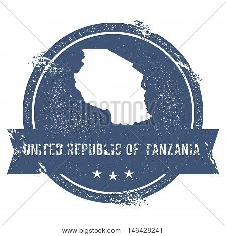 Tanzania, United Republic Of Mark.. Travel Rubber Stamp With The Name And Map Of Tanzania, United Re