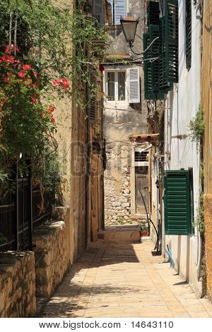 Old street in Corfu town