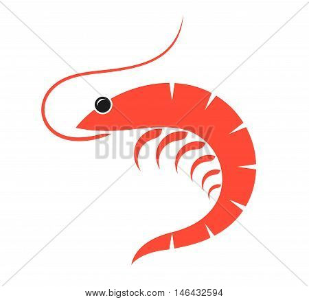 Abstract prawn on white background. (EPS 10)