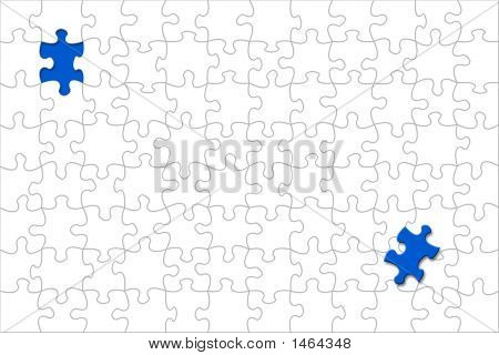 Puzzle With Displaced Piece