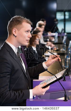 Speech On The Platform