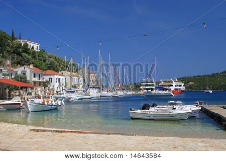 Kioni on the greek island of Kefalonia