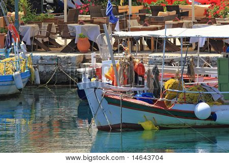 Fiskardo on the greek island of Kefalonia