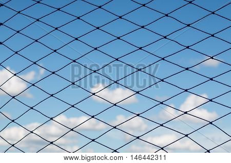 Sport net background with sky during, net, background