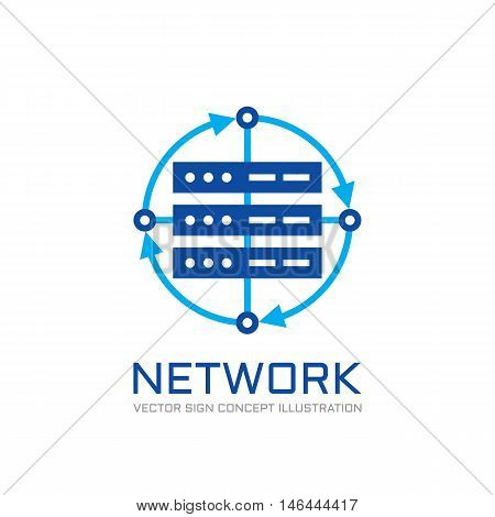 Network - vector logo template concept illustration. Abstract web server creative sign. Design element.