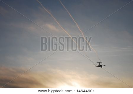 Vapor Trails on Landing