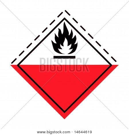 Fire Hazard Warning Sign