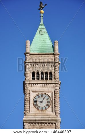 Lowell City Hall is a Romanesque Revival style architecture in downtown Lowell, Massachusetts, USA