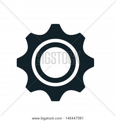 gear cogwheel power transmission mechanic. vector illustration