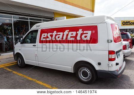 Delivery Car With Sign Estafeta