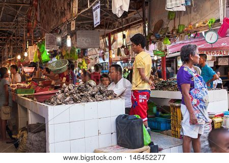 Talipapa Food Market On Island Boracay