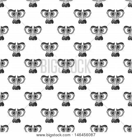 Clown face seamless pattern on white background. Jester design vector illustration