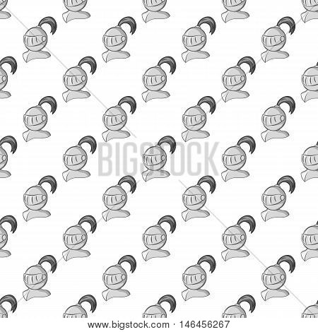 Medieval battle armor seamless pattern on white background. Protection design vector illustration