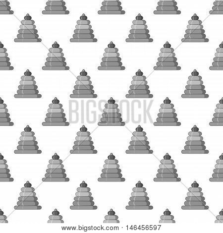 Childrens pyramid seamless pattern on white background. Toy design vector illustration