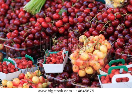 Fresh fruits on a market place