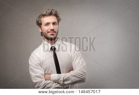 Handsome man wearing a shirt and a tie