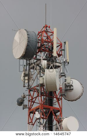 gsm telecommunications tower antenna