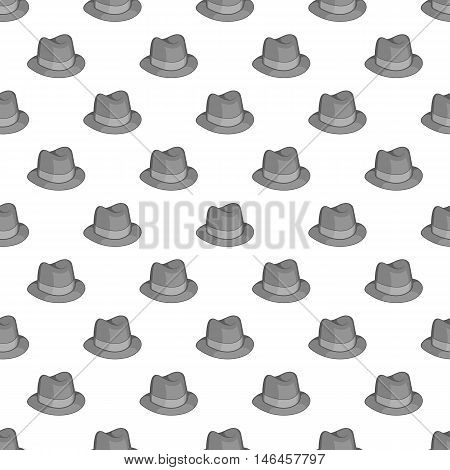 Hat seamless pattern on white background. Headgear design vector illustration