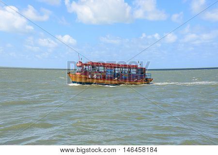 Cabedelo Paraiba Brazil - September 7 2016 - Boat known as