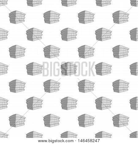 Bundle of money seamless pattern on white background. Cash design vector illustration