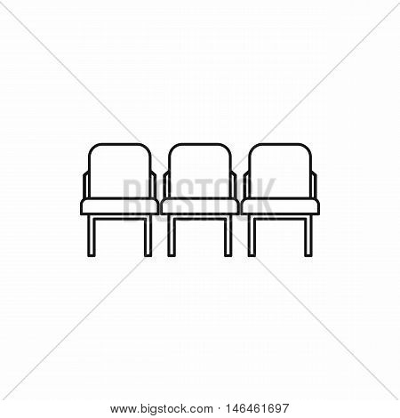 Row seats icon in outline style on a white background vector illustration
