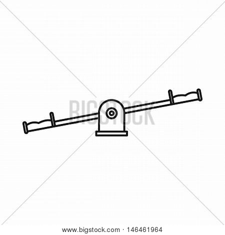 Seesaw icon in outline style on a white background vector illustration