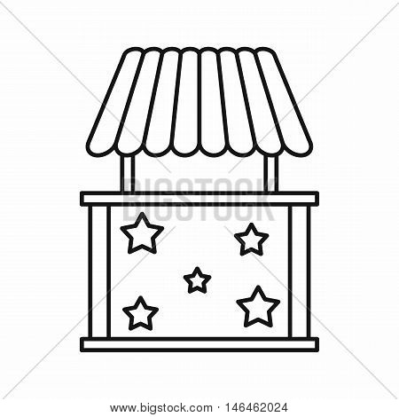 Carnival tent icon in outline style on a white background vector illustration