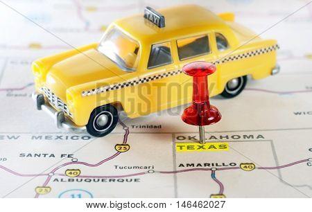 Texas Usa Map Taxi