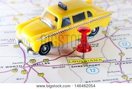 Louisiana  Usa Map Taxi