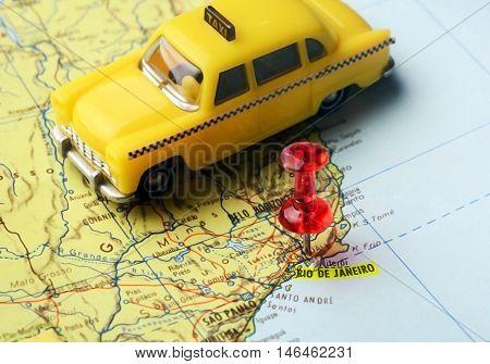 Map Pin  Of  Rio De Janeiro Taxi