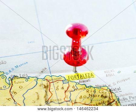 Map Of  Fortaleza   Brazi