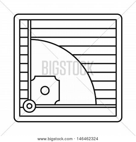Baseball field icon in outline style on a white background vector illustration