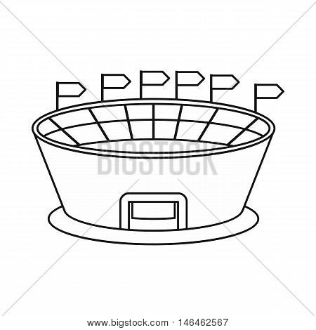 Stadium icon in outline style on a white background vector illustration