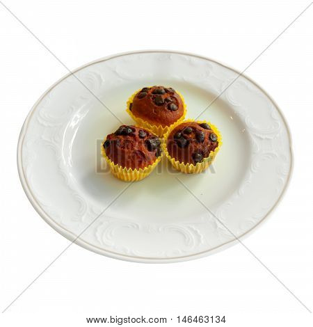Delicious patisserie cookies in a white plate
