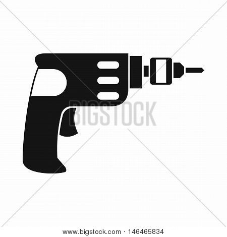 Hand drill icon in simple style on a white background vector illustration