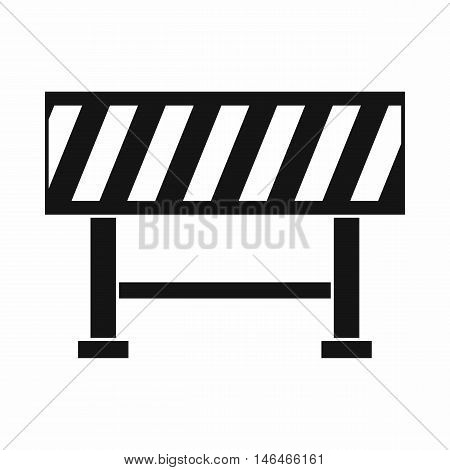 Traffic barrier icon in simple style on a white background vector illustration