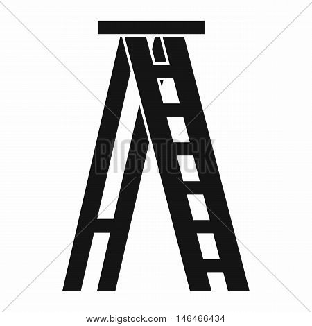Stepladder icon in simple style on a white background vector illustration